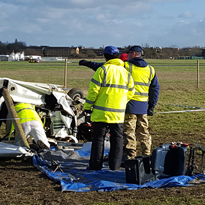 Accident investigation on airfield