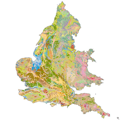 Soil map of England 和 Wales