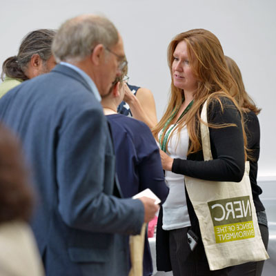 Networking at an exhibition